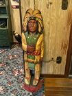 """48"""" Wood Cigar Store Indian"""