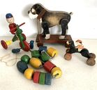 Lot# 35 - Lot of 4 -  Pull Toys / Blocks