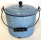 Lot# 42 - Blue Granite Bucket with Lid A