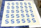 """Lot# 74 - Hand Made Quilt  """"S"""" Blue and"""