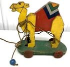 Lot# 116 - Pull Toy Wooden Camel