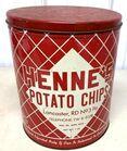 Lot# 130 - Henne's Potato Chip Can Lanca