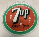 Lot# 204 - 7-Up Glass Sign
