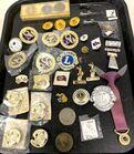 Lot# 218 - Lot of 30+ Lions Club Pins/ T