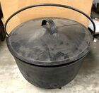 Lot# 352 - Cast Iron Kettle with Tin Lid