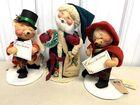 Lot# 422 - Lot of 3 Annalee Dolls Santa