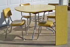 1950's Vintage Table, Chairs