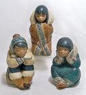 Lladro Eskimo Figurines