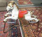 Vintage Metal Robo Rocking Horse Toy