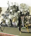 Large lot of Pewter, Silverplate,