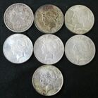 Seven (7) United States Silver Dollars 6