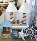 Maritime Lot - Lighthouse Lamps - Table
