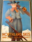 1930's Northland Skis Poster by R.
