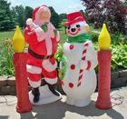 X-Mas Blow Molds, Santa, Snowman