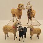 Putz Sheep, Wood Legs, Collars