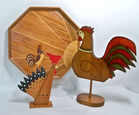 Wood Rooster Decor
