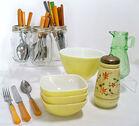 Vintage Yellow Kitchen Items