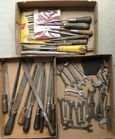 Box Lots Of Tools, Files, Wrenches