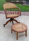 Wicker Office Chair, Foot Rest