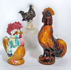 Rooster Art Glass & Decanter