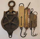 Spring Balance Scales & Pulley