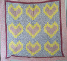 Lap Quilt with Hearts
