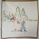 Embroidered Crib Quilt