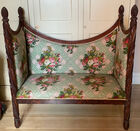 Acanthus carved Federal settee