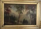 Hudson River oil painting