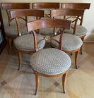 6 Biedermeier style chairs