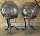 Unusual decorative globe vases