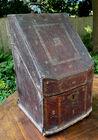 Antique leather letter box