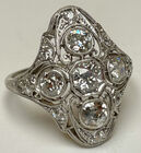 Deco multi-diamond ring