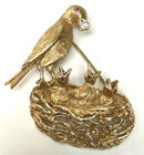 Gold, diam and ruby brooch