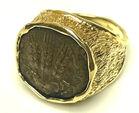 14k ring w/ Judaic bronze coin