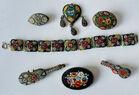 Micromosaic jewelry lot