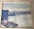 Docks watercolor