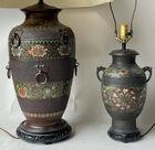 Enameled Asian lamps