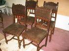 English Leather oak chairs
